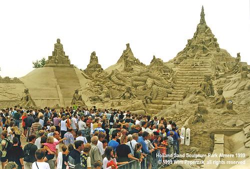 Holland Sand Sculpture Park Almere 1999 by sculpture grrrl
