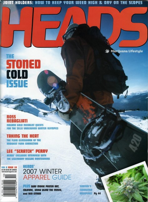Ross article - Heads magazine cover