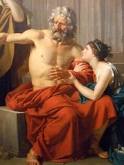 Oedipus at Colonus by Jean-Antoine-Theodore Giroust 1788 French Oil by mharrsch