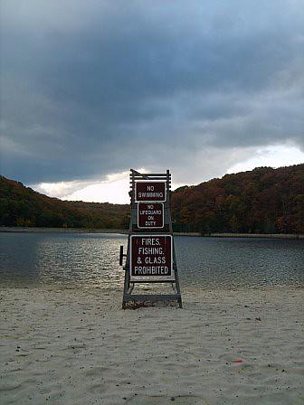 The Beach at Greenbriar Lake  Greenbriar State Park in