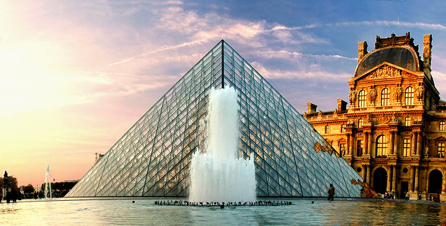 The Pyramid of the Louvre, Paris, France