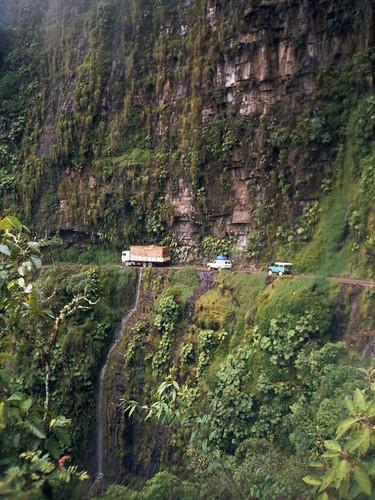 Carretera por las Yungas bolivianas