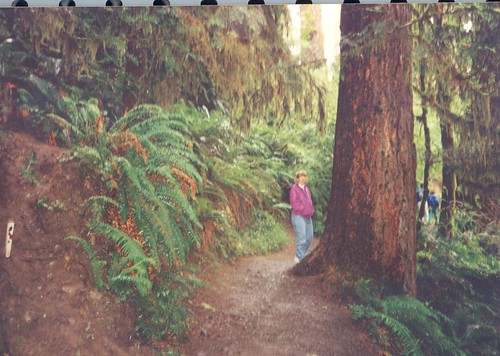 Laura at Hoh Rain Forest