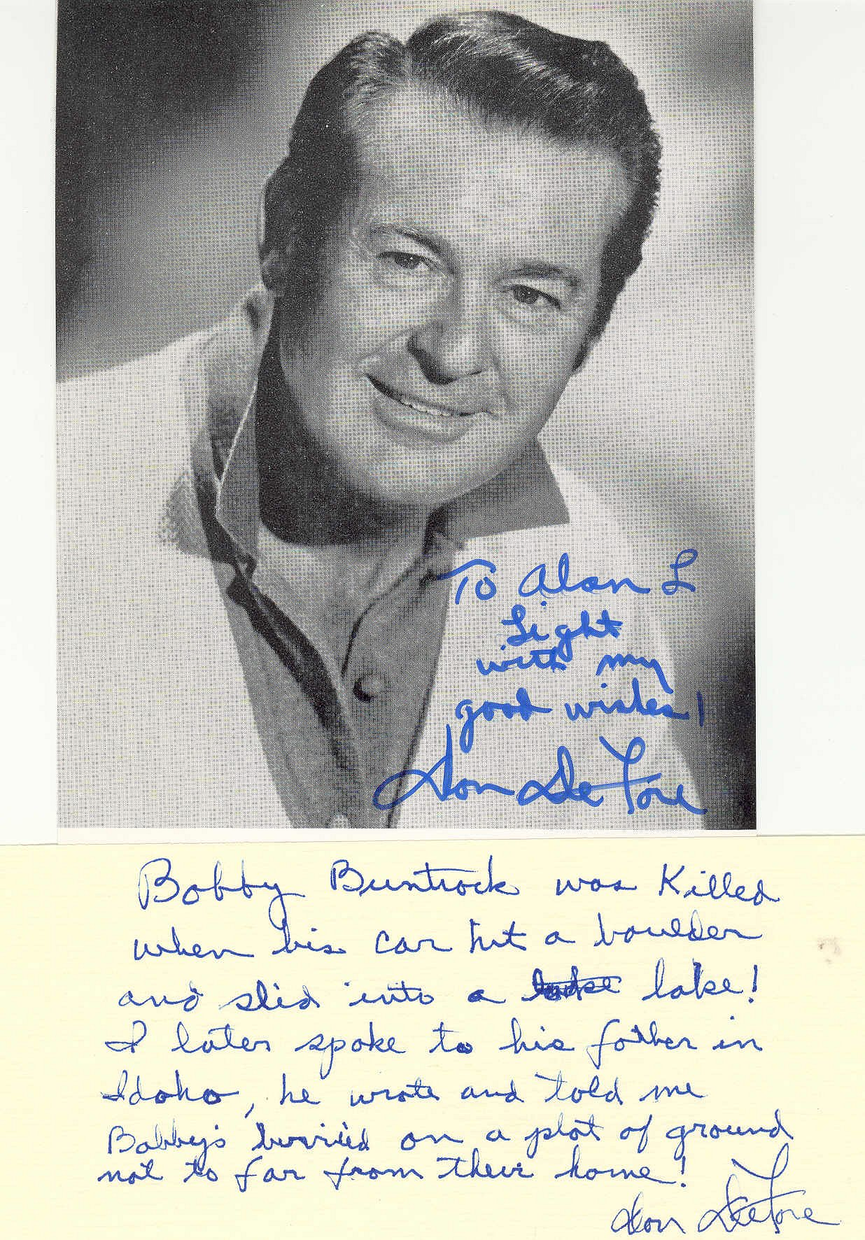 Letter from Don DeFore  Flickr  Photo Sharing