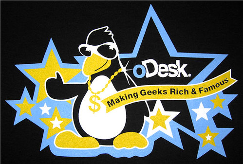 oDesk t-shirts: all about the bling, G.