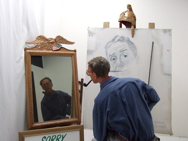 Norman Rockwell Painting Himself  Flickr  Photo Sharing