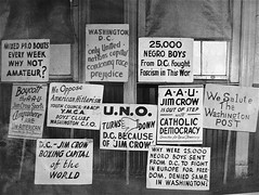 Protest Signs, Campaign to integrate Uline Arena, (1948-49)