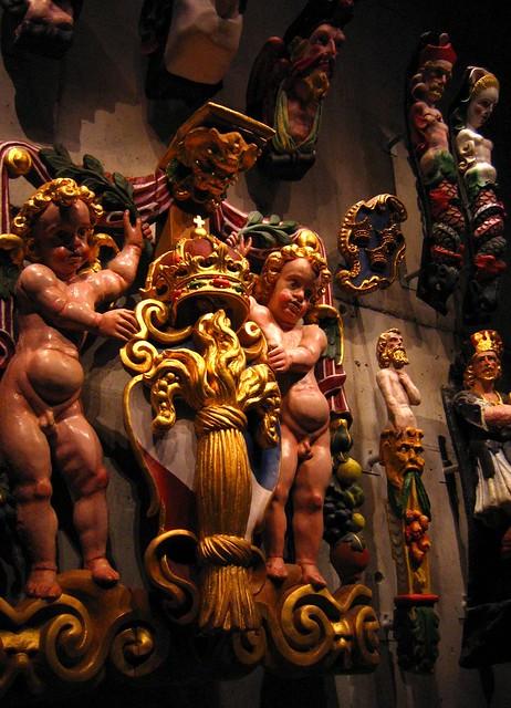Details of statues on Vasa, Vasamuseet, Stockholm