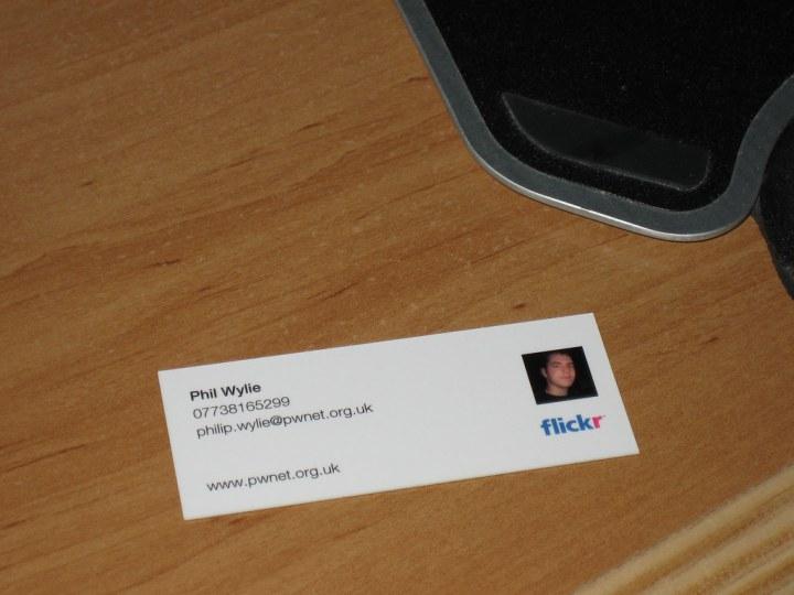 Moo.com Flickr card