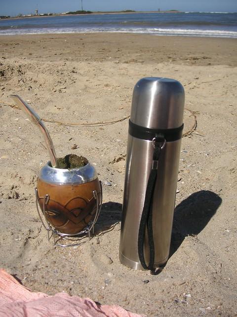Yerba Mate in the sand