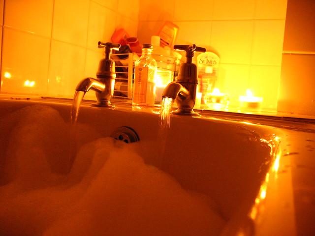 Romantic Bath  Tonight I ran a romantic lavender bath for W  Flickr  Photo Sharing