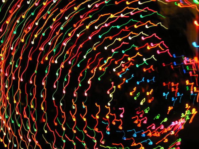 Christmas Lights Dancing