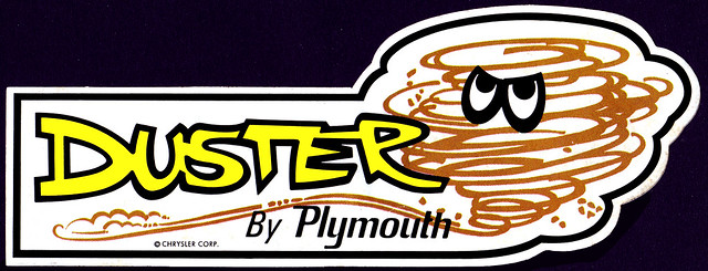 Plymouth Duster Tornado Guy Sticker  1970s  Flickr