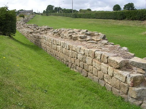 The south face of the wall