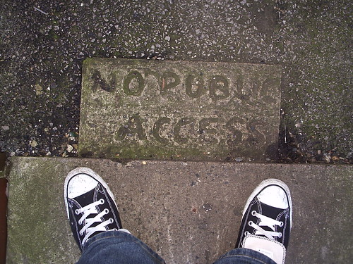 No Public Access by fuzzcaminski, via Flickr