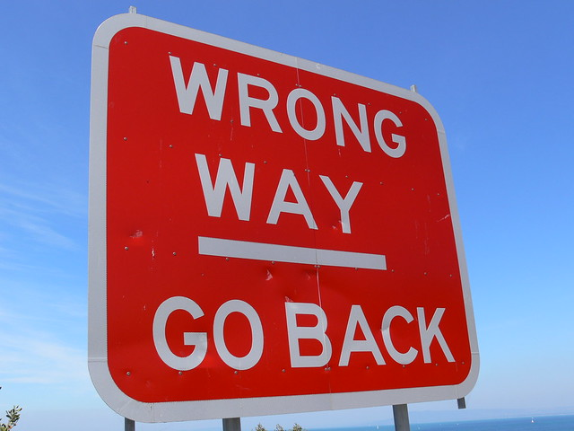 WRONG WAY / GO BACK