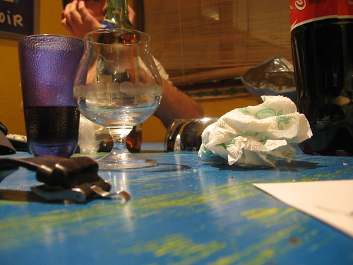 Dirty table