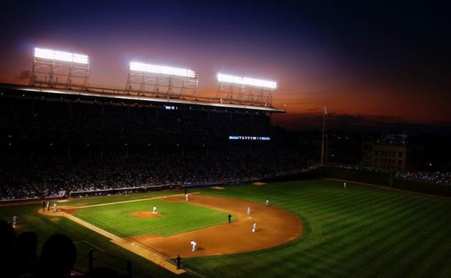 Wrigley Field Night Night Baseball Game At Wrigley Field