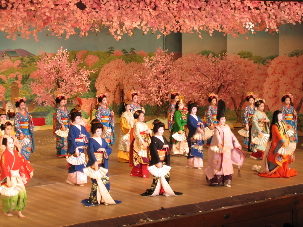 Cherry dance in Kyoto Japan  6  Flickr  Photo