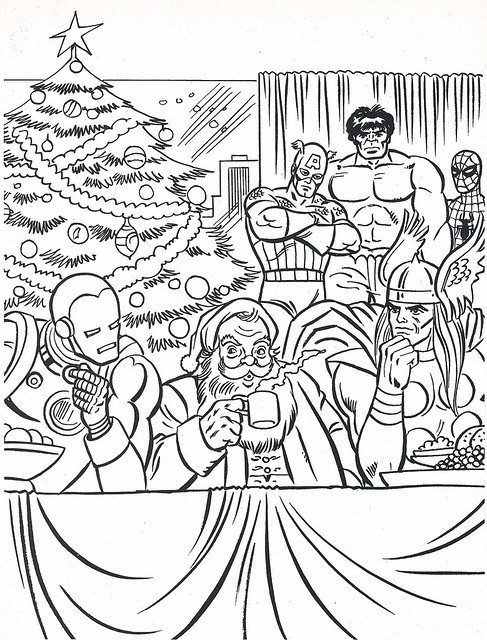 Free marvel super heroes coloring pages