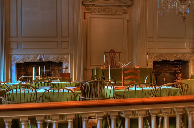 An inside view of the Independence Hall Philadelphia