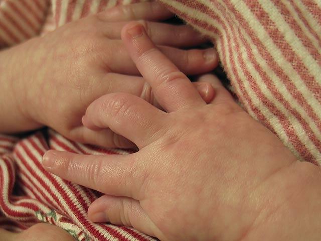 Declan's hands