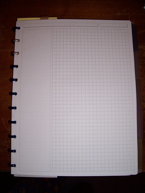 Levenger note sheet - Letter size