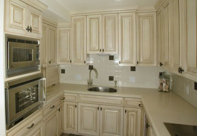 Cream Glazed Kitchen Cabinets Pictures