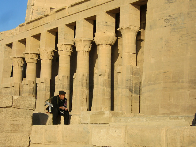 Egyptian Soldier at the Temple