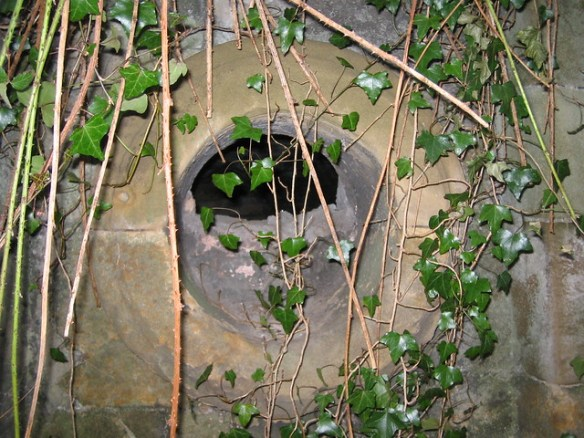 Kirkleatham 18th Century Wall converted into WW2 Gun Nest