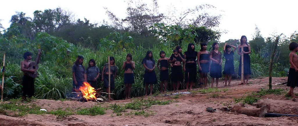 Poblado Guarani Paraguay tres fronteras Argentina Brasil Paraguay 108