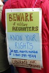 Beware of military recruiters
