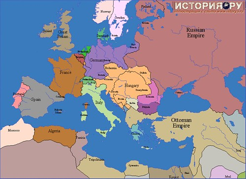 Europe map 1908 Flickr Photo Sharing!