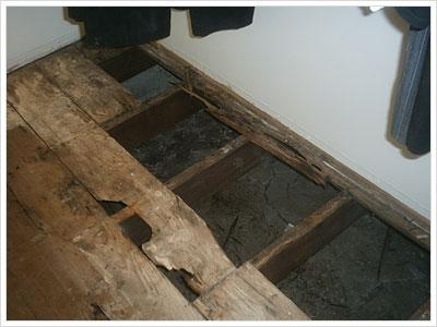 Floor in the Closet