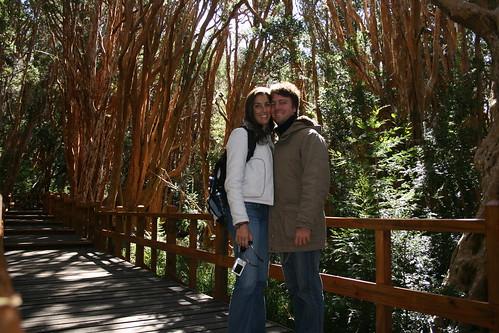 Con Gemma en el Bosque de Arrayanes