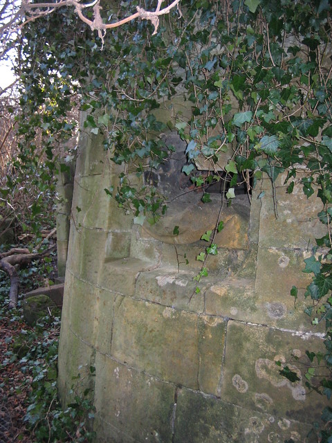 Kirkleatham 18th Century Wall converted into WW2 Gun Nest 4