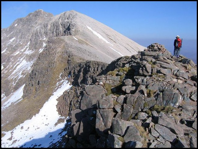 Spidean Coire nan Clach in the distance