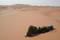 desierto: tomando el sol