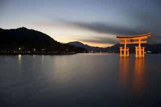 The Floating Torii by kepibear, on Flickr