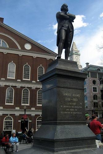 Boston  Freedom Trail Faneuil Hall  Samuel Adams statue