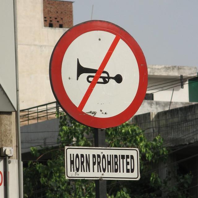 Horn Prohibited