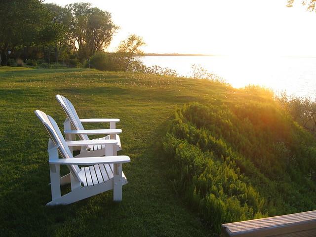 Adirondack chairs at sunset  Flickr  Photo Sharing