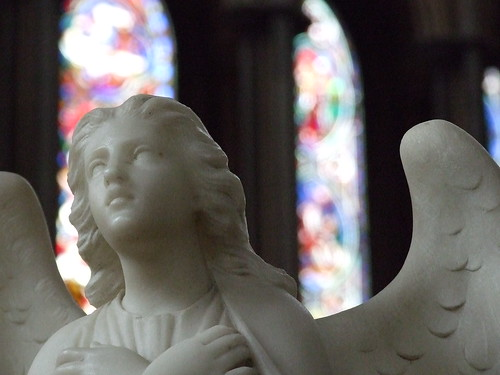 Worcester Cathedral Angel and Stained Glass