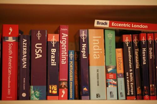 Travel bookshelf