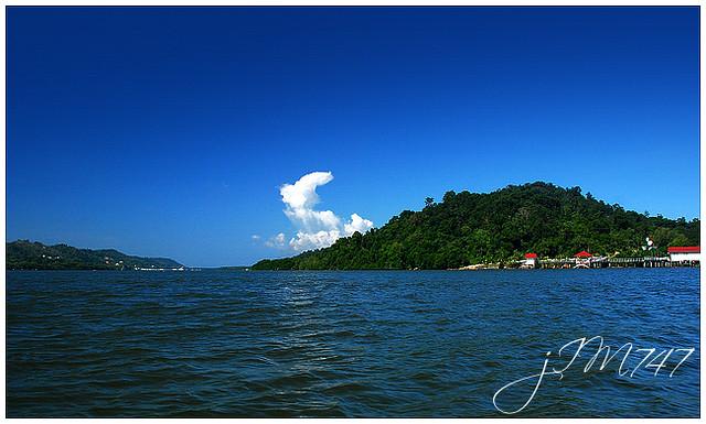 brunei river landscape view of