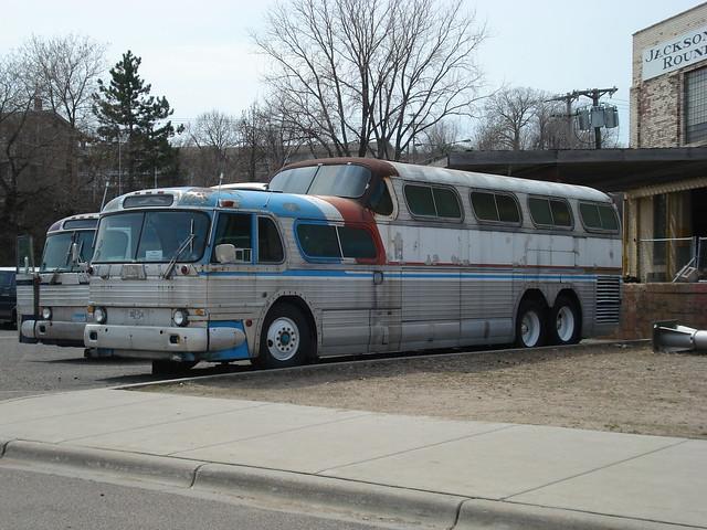 Old Greyhound Scenicruiser Bus