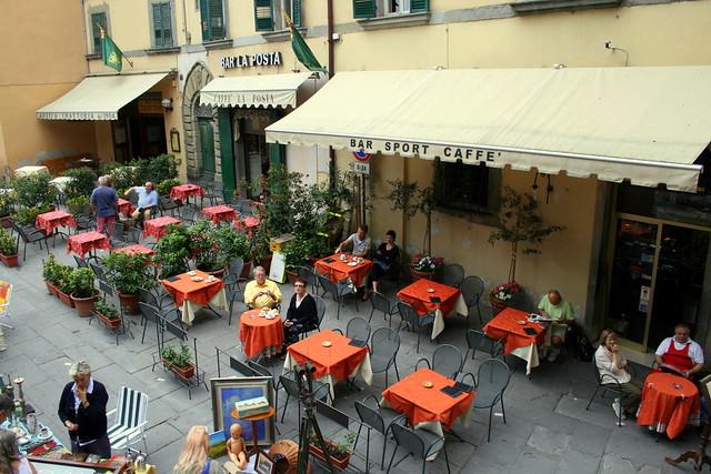 Terrace in Cortona  Terraces in the Piazza del Signorelli