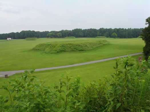 View from atop Chief's mound, Moundville