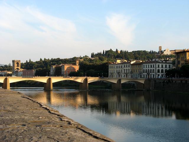 Arno, Ponte alle Grazie, Porta San Niccolo, San Miniato al Monte – Firenze