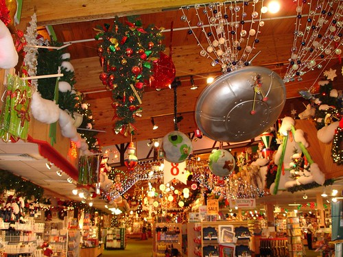 Inside Bronner's (world's largest xmas store) in Frankenmuth MI